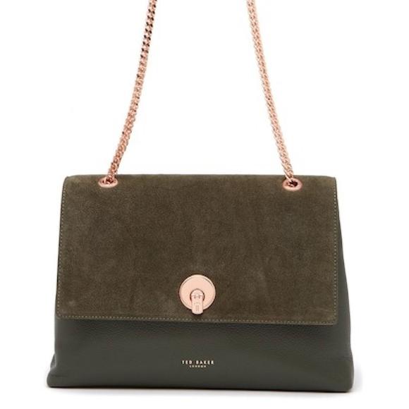 d0d25999531 Ted Baker Bags | Sophina Khaki Suede Shoulder Bag | Poshmark